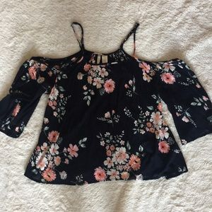 Japna Cold Shoulder Flower Blouse